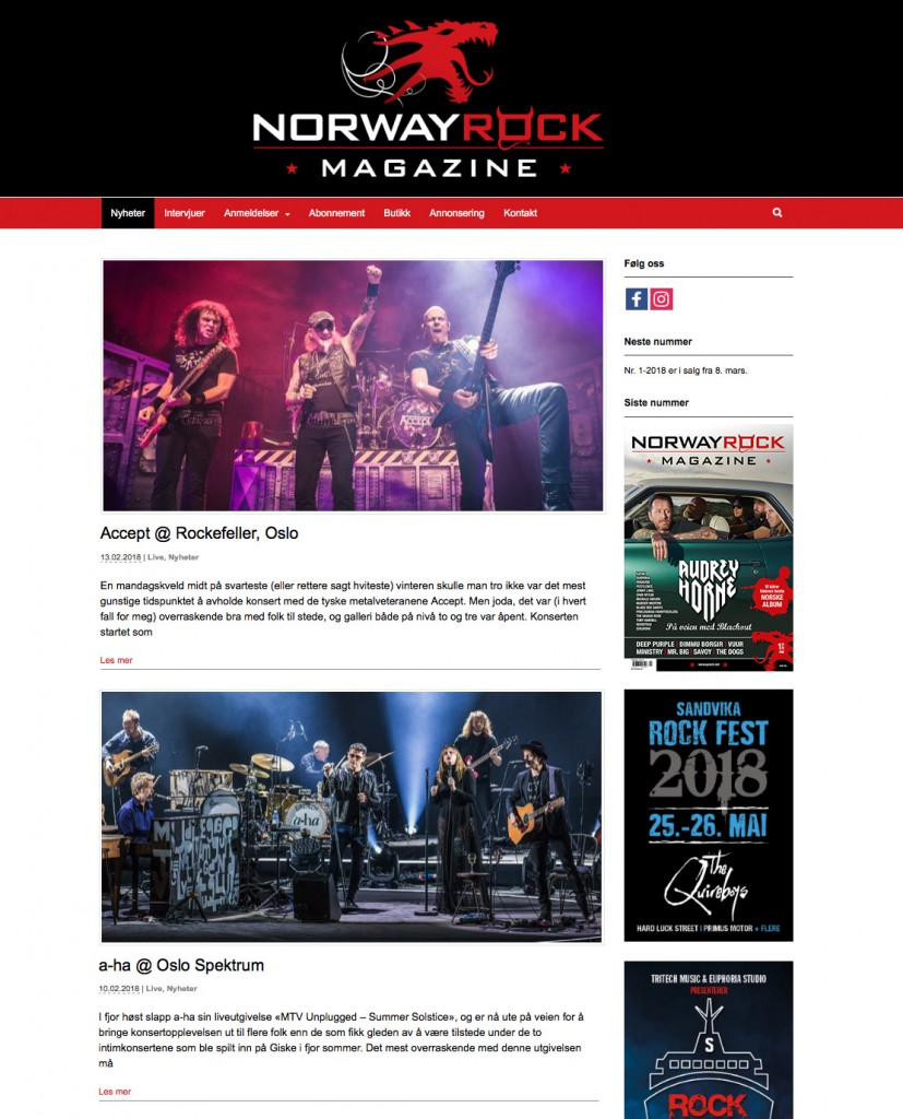 Norway Rock Magazine | Nettside
